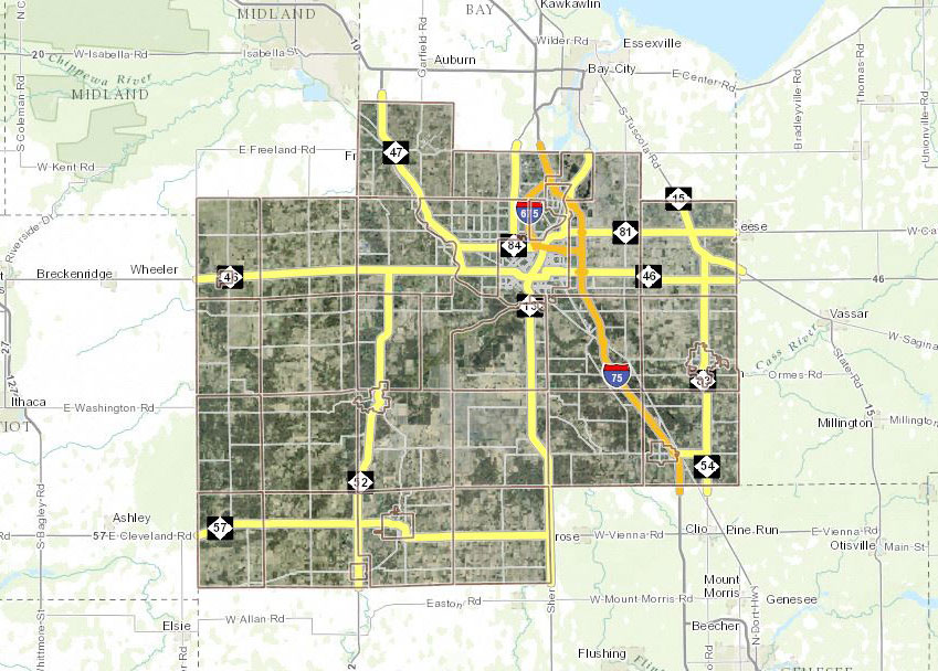 Saginaw Mi Zip Code Map.Saginaw Area Gis Authority
